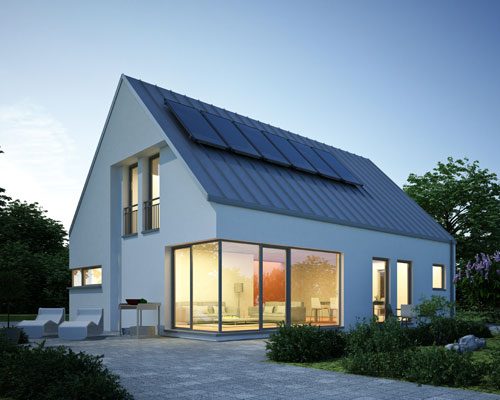 Haus abends - Elektro Boll Solar GmbH - Lauchringen