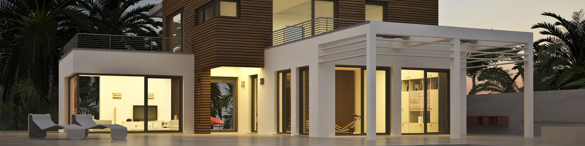 Villa am Abend - Elektro Boll Solar GmbH - Lauchringen